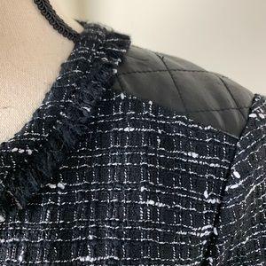 Kate Spade B/W Wool Tweed Dress NWOT 10